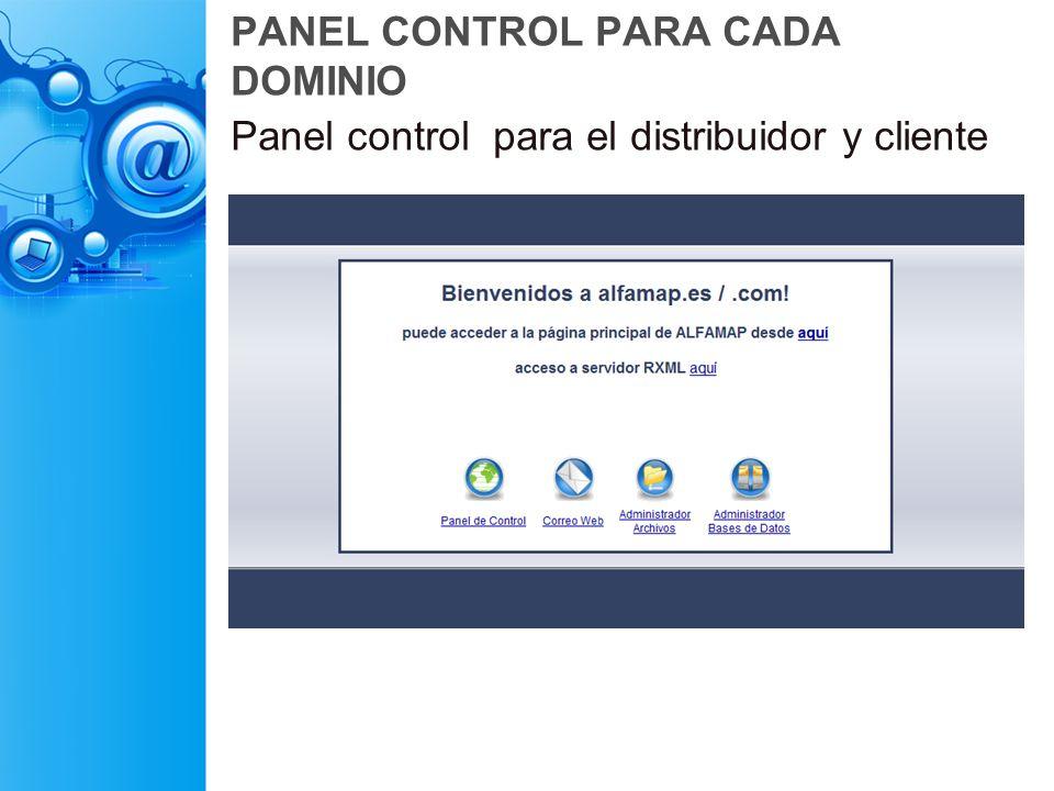 PANEL CONTROL PARA CADA DOMINIO