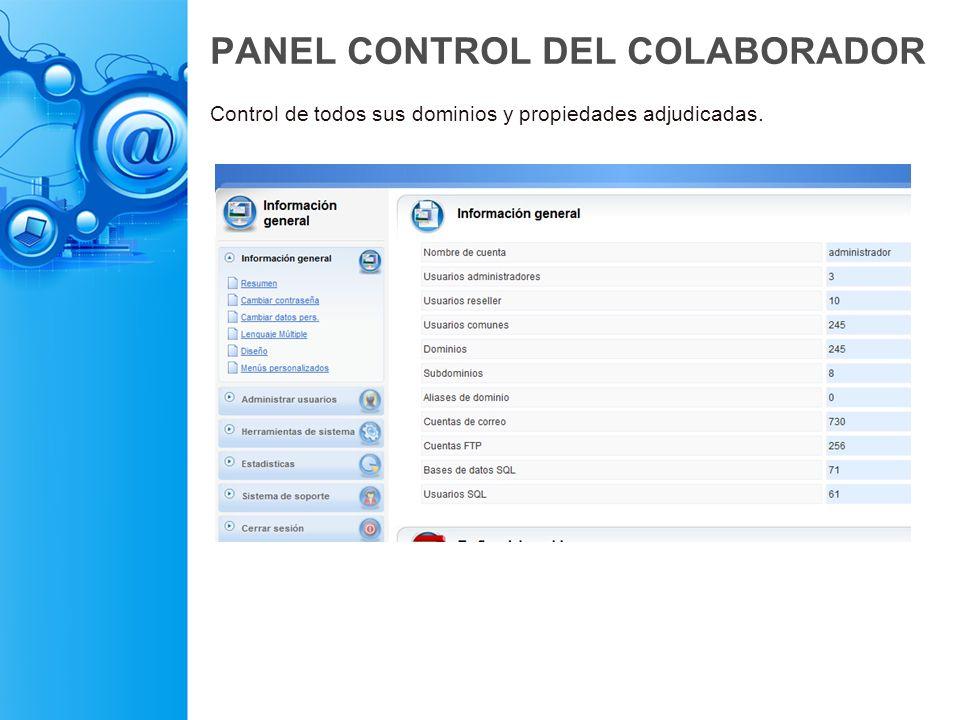 PANEL CONTROL DEL COLABORADOR