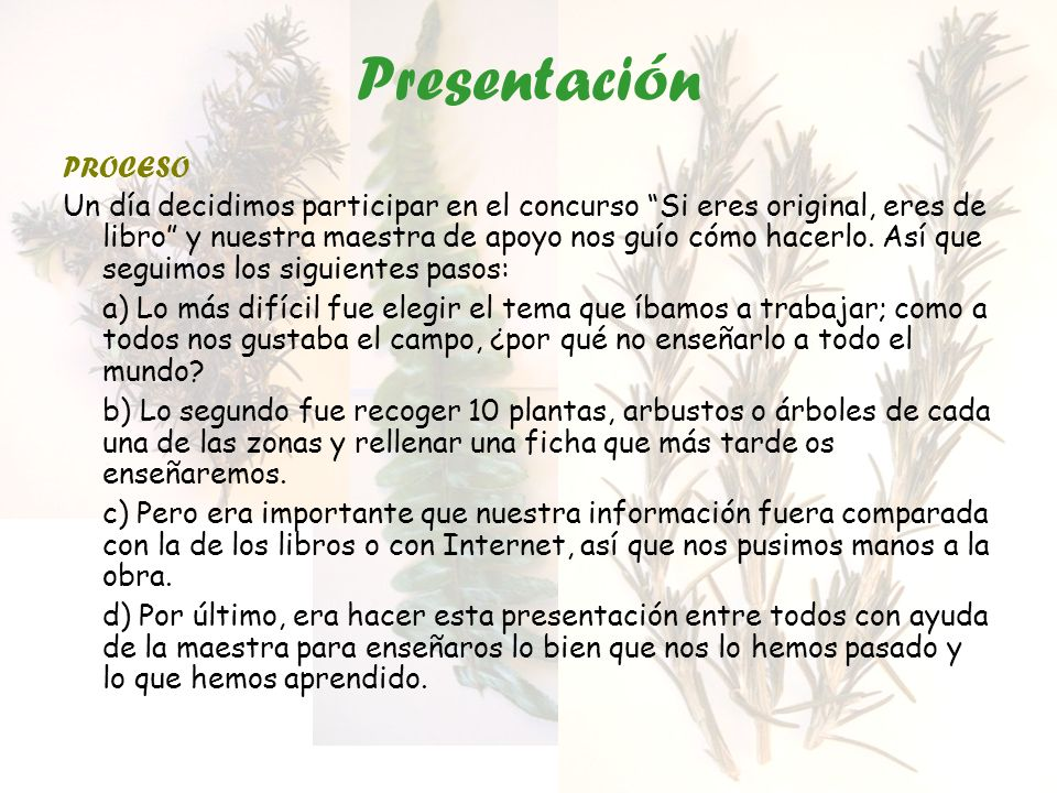 Presentación PROCESO.
