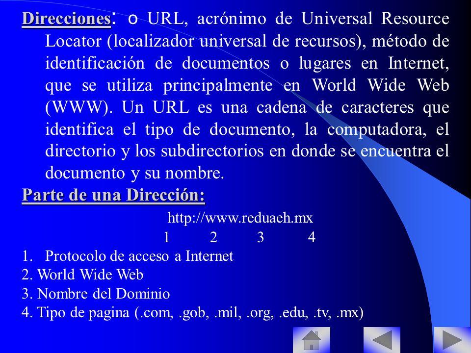 Parte de una Dirección: http://www.reduaeh.mx