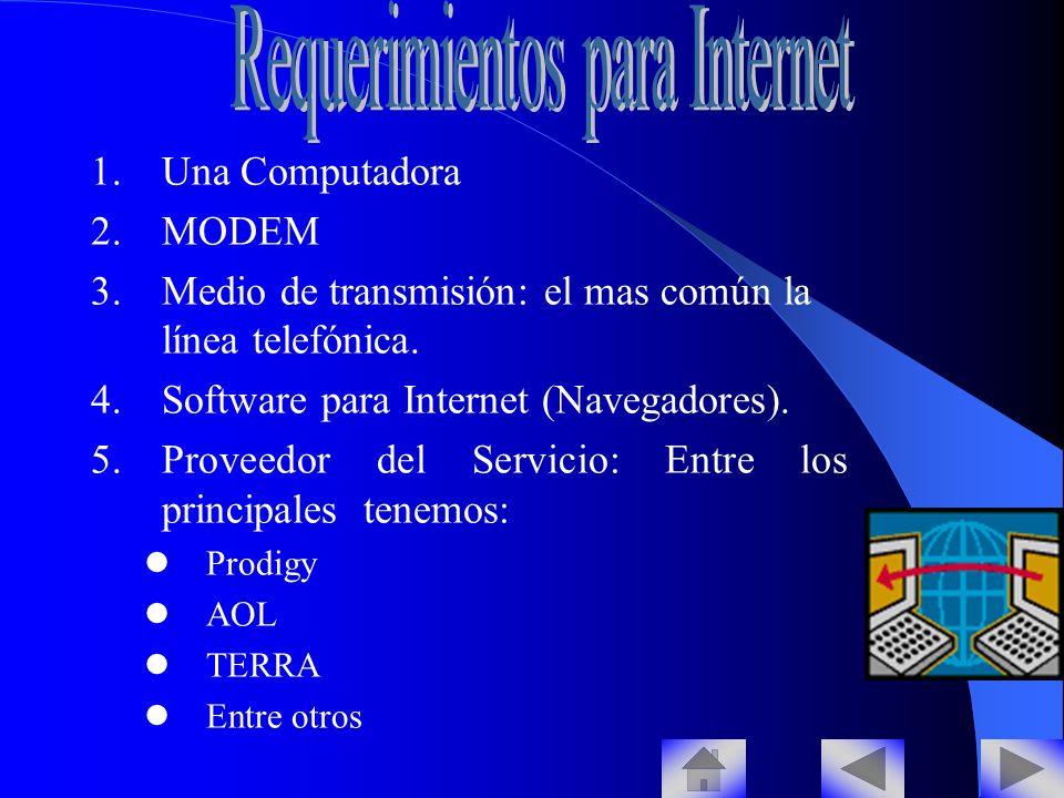 Requerimientos para Internet