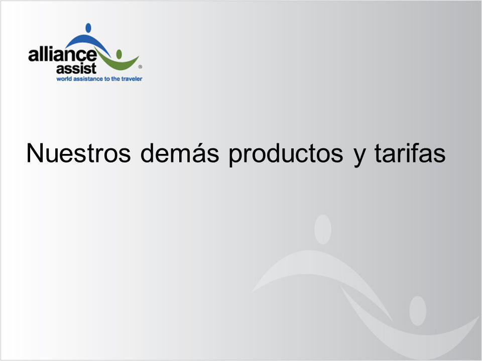 Nuestros demás productos y tarifas
