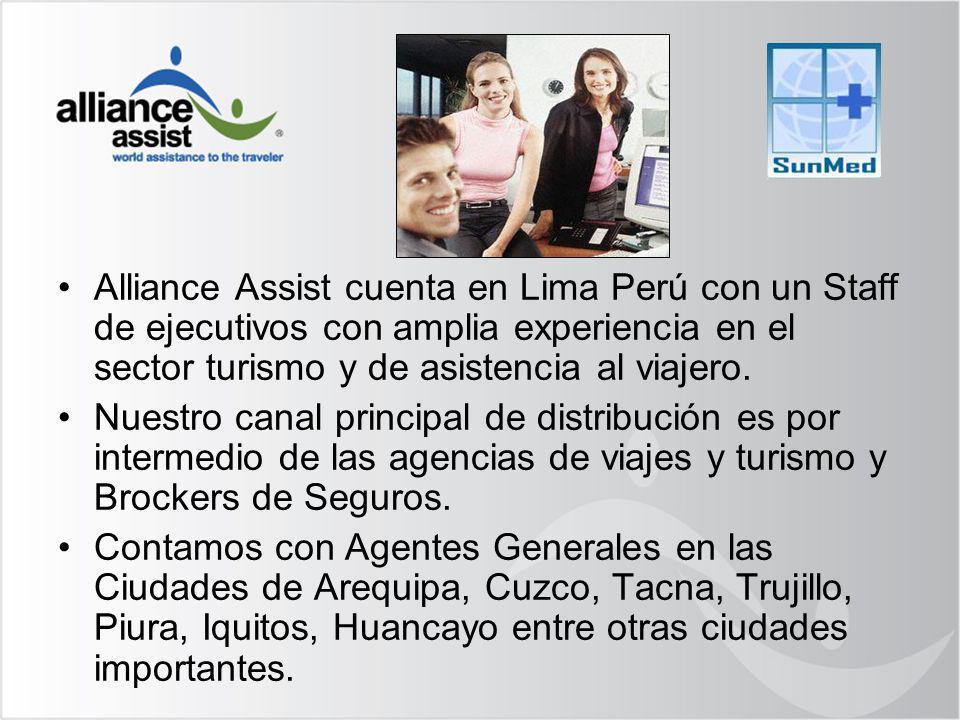 Alliance Assist cuenta en Lima Perú con un Staff de ejecutivos con amplia experiencia en el sector turismo y de asistencia al viajero.
