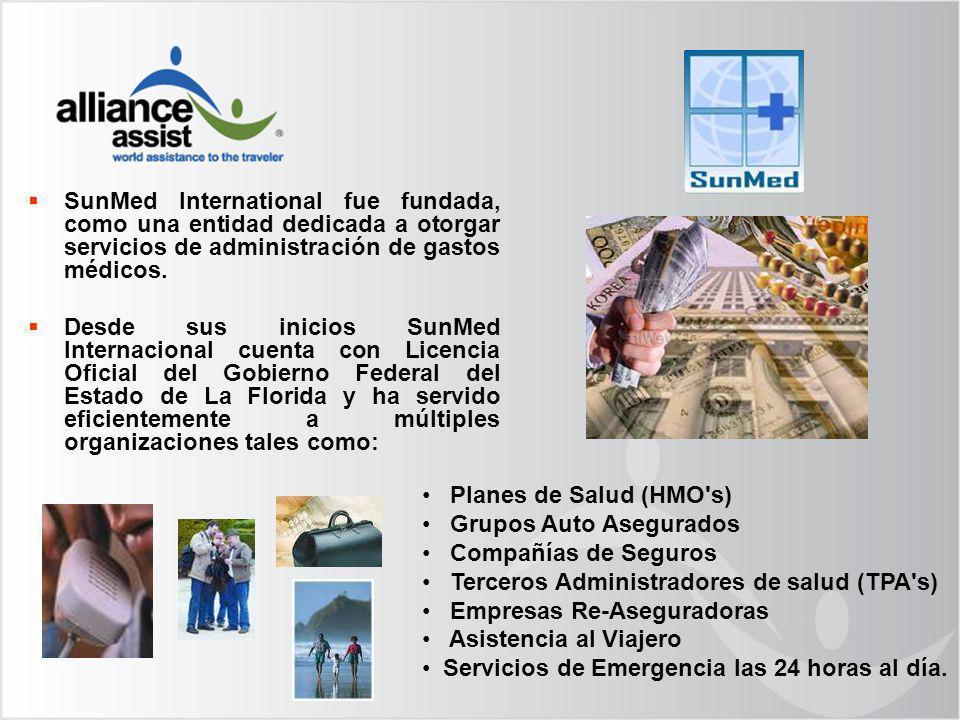 SunMed International fue fundada, como una entidad dedicada a otorgar servicios de administración de gastos médicos.