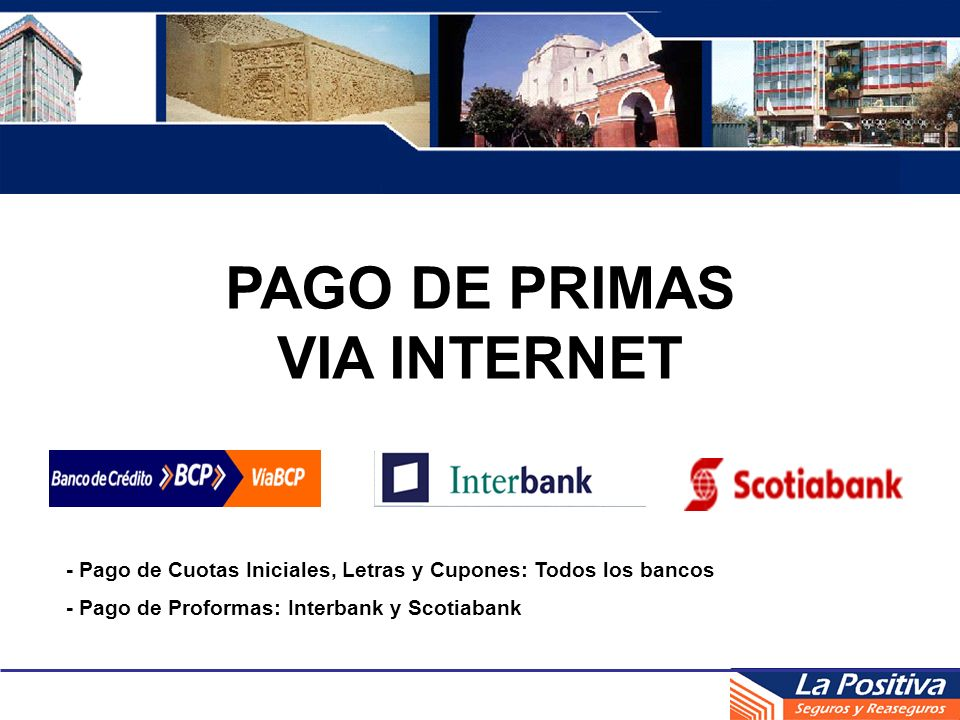 PAGO DE PRIMAS VIA INTERNET