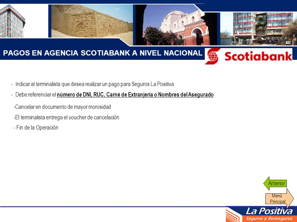 PAGOS EN AGENCIA SCOTIABANK A NIVEL NACIONAL