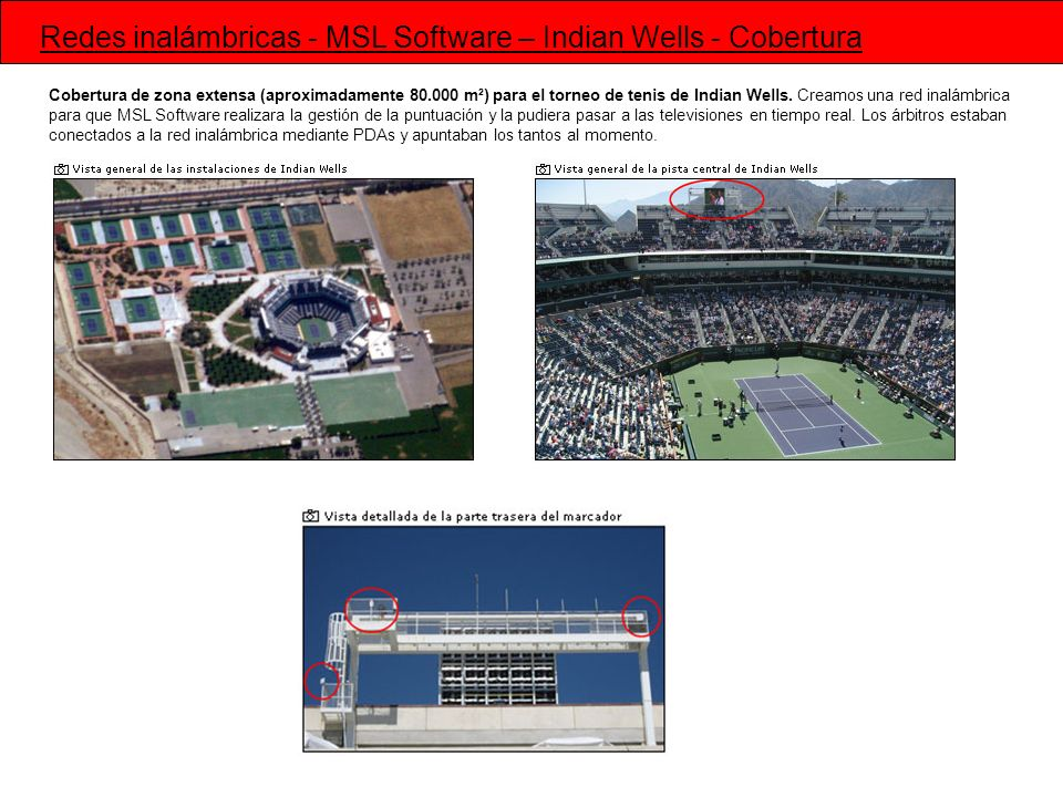 Redes inalámbricas - MSL Software – Indian Wells - Cobertura