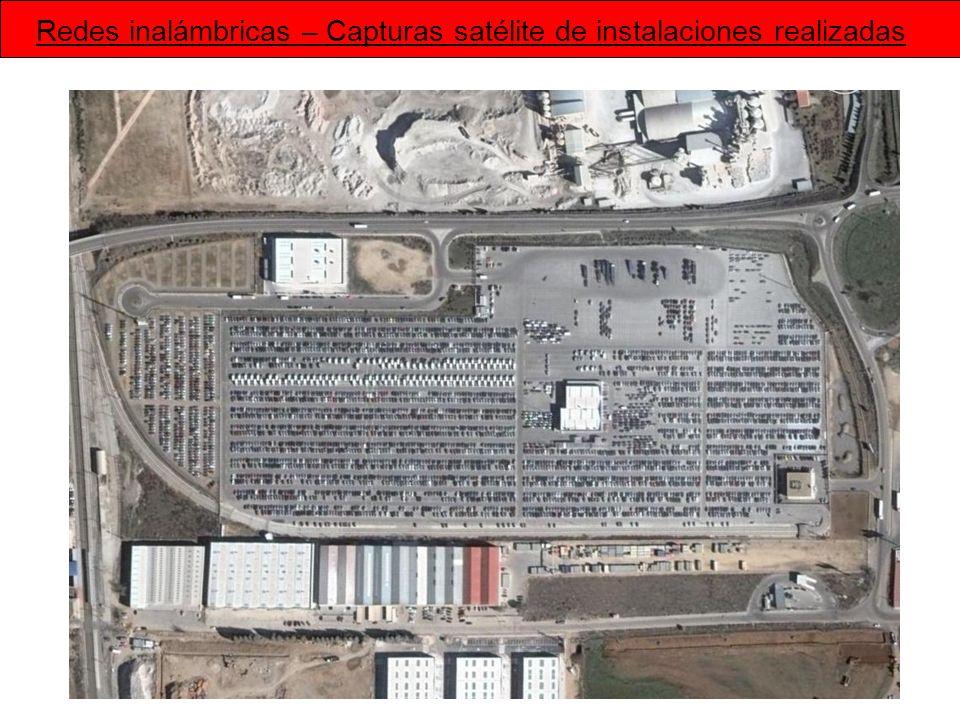 Redes inalámbricas – Capturas satélite de instalaciones realizadas