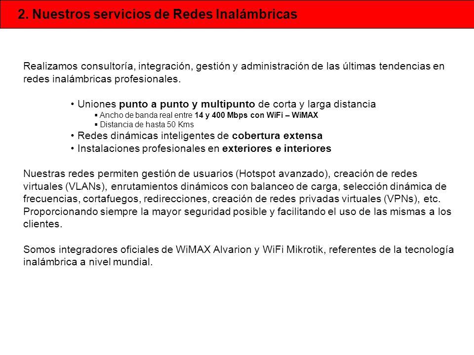 2. Nuestros servicios de Redes Inalámbricas