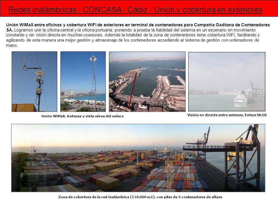 Redes inalámbricas - CONCASA - Cádiz - Unión y cobertura en exteriores