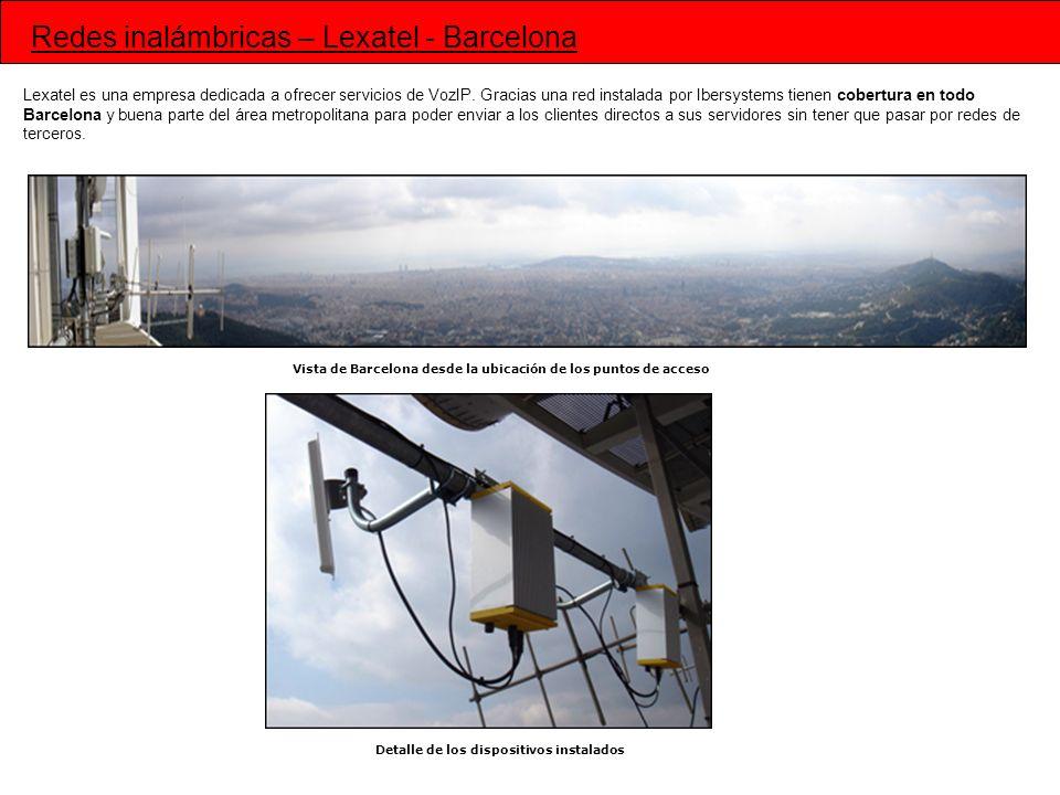 Redes inalámbricas – Lexatel - Barcelona