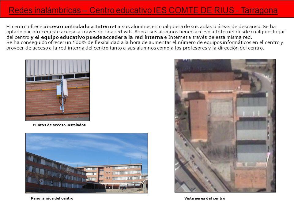 Redes inalámbricas – Centro educativo IES COMTE DE RIUS - Tarragona