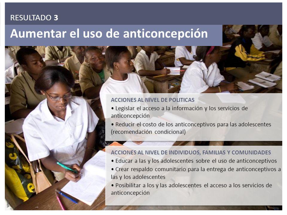 Aumentar el uso de anticoncepción