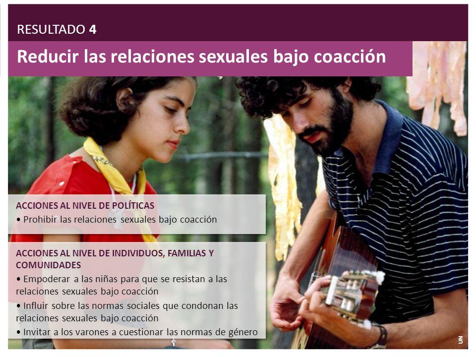 Reducir las relaciones sexuales bajo coacción