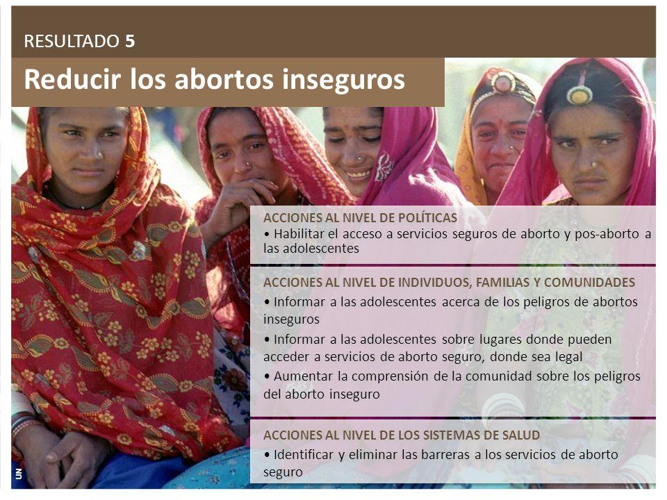 Reducir los abortos inseguros