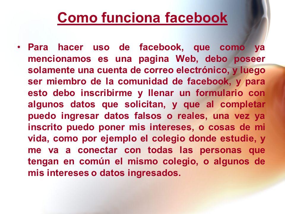Como funciona facebook