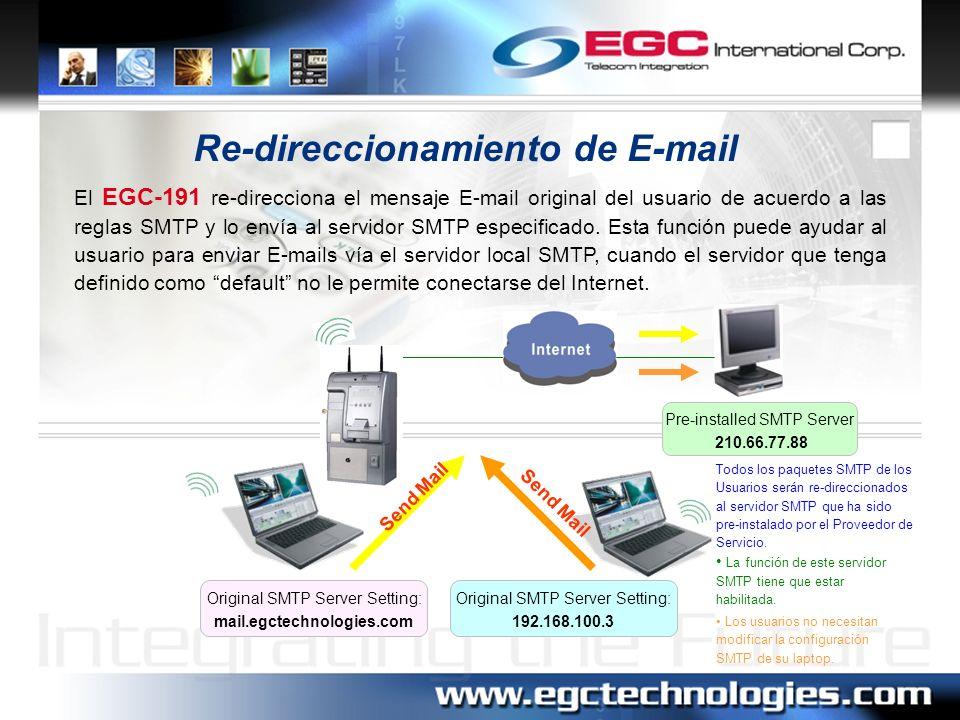 Re-direccionamiento de E-mail