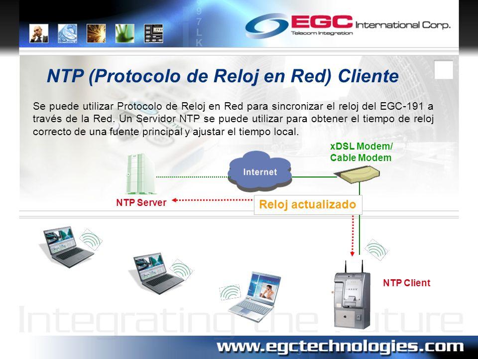 NTP (Protocolo de Reloj en Red) Cliente