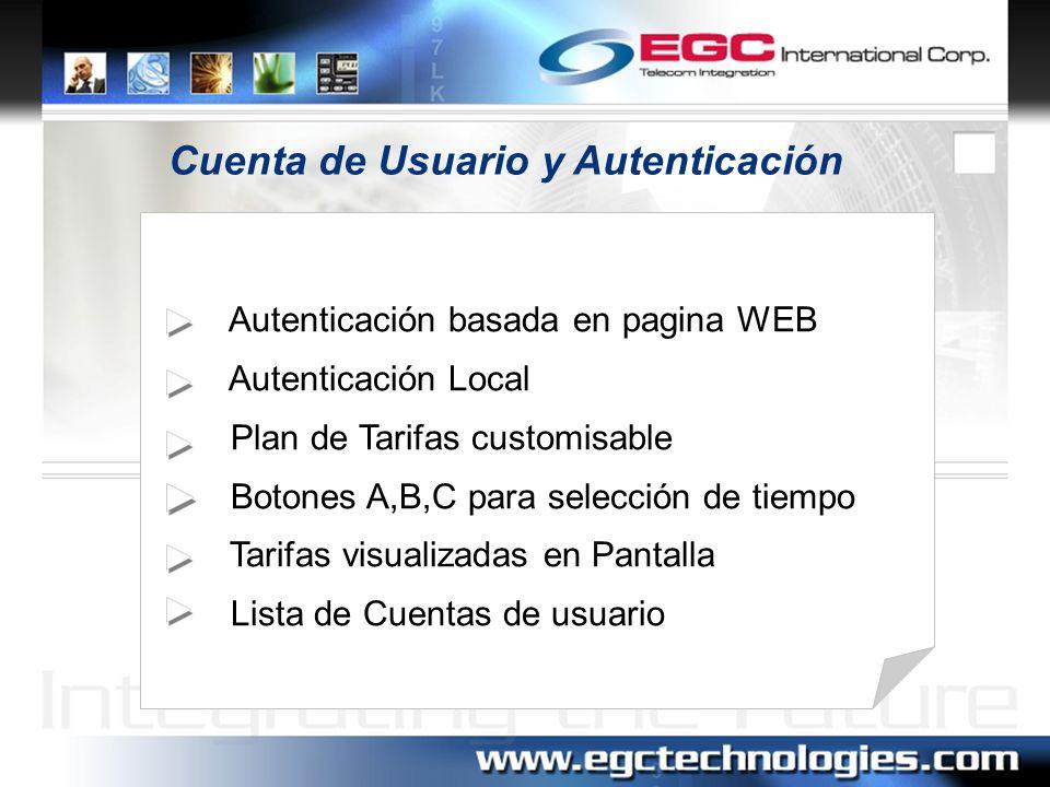 Cuenta de Usuario y Autenticación
