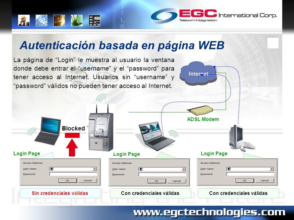 Autenticación basada en página WEB