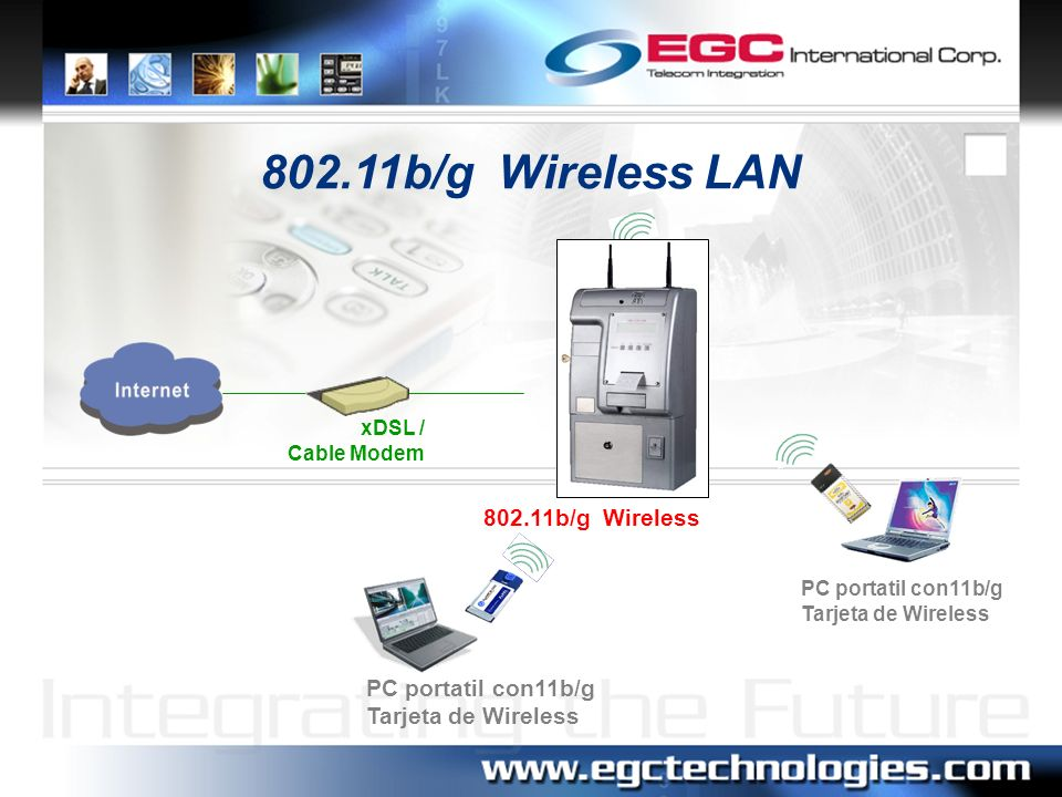 802.11b/g Wireless LAN 802.11b/g Wireless PC portatil con11b/g