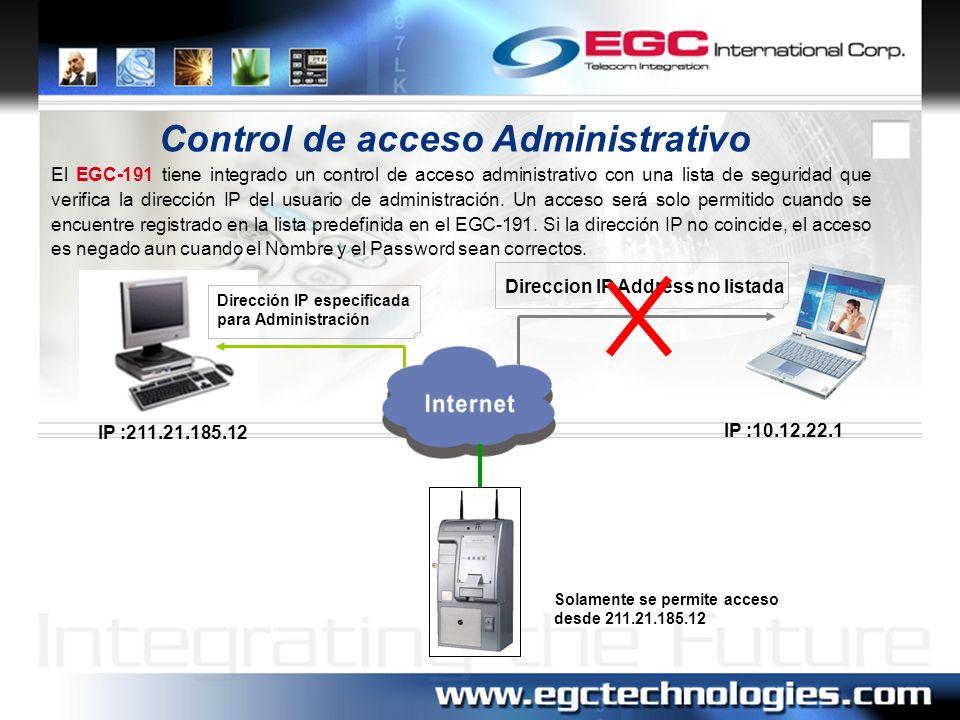 Control de acceso Administrativo