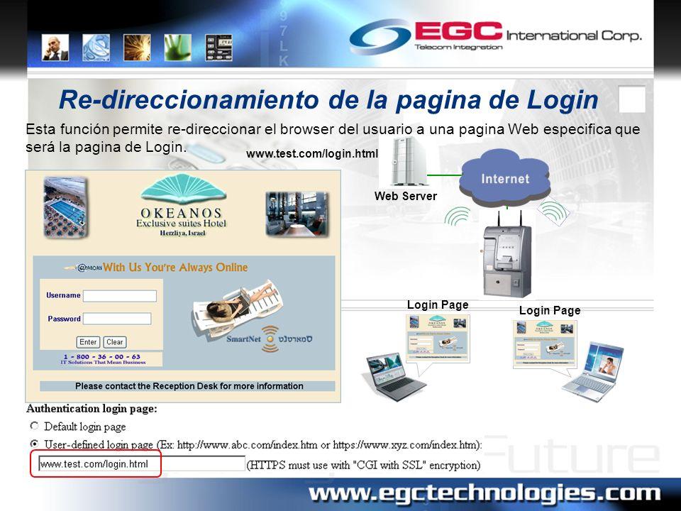 Re-direccionamiento de la pagina de Login