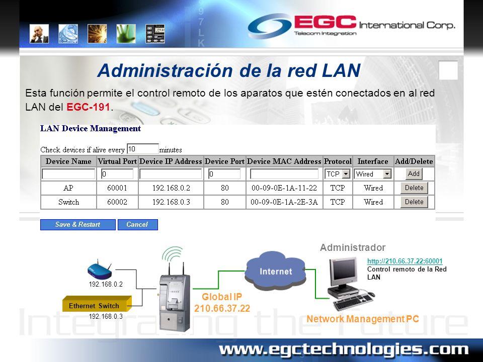 Administración de la red LAN
