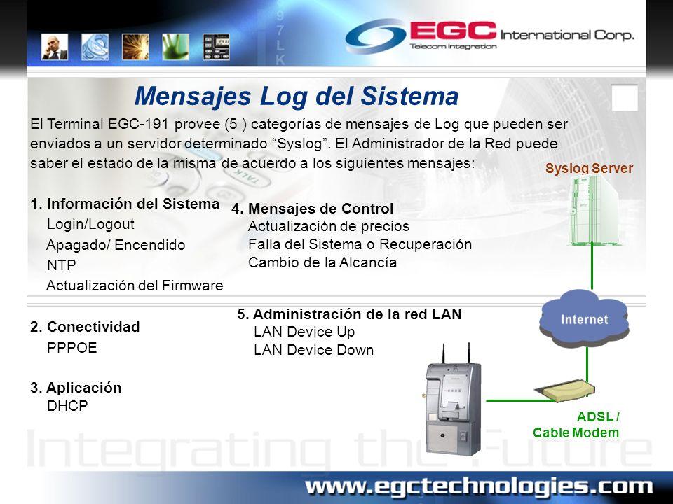 Mensajes Log del Sistema