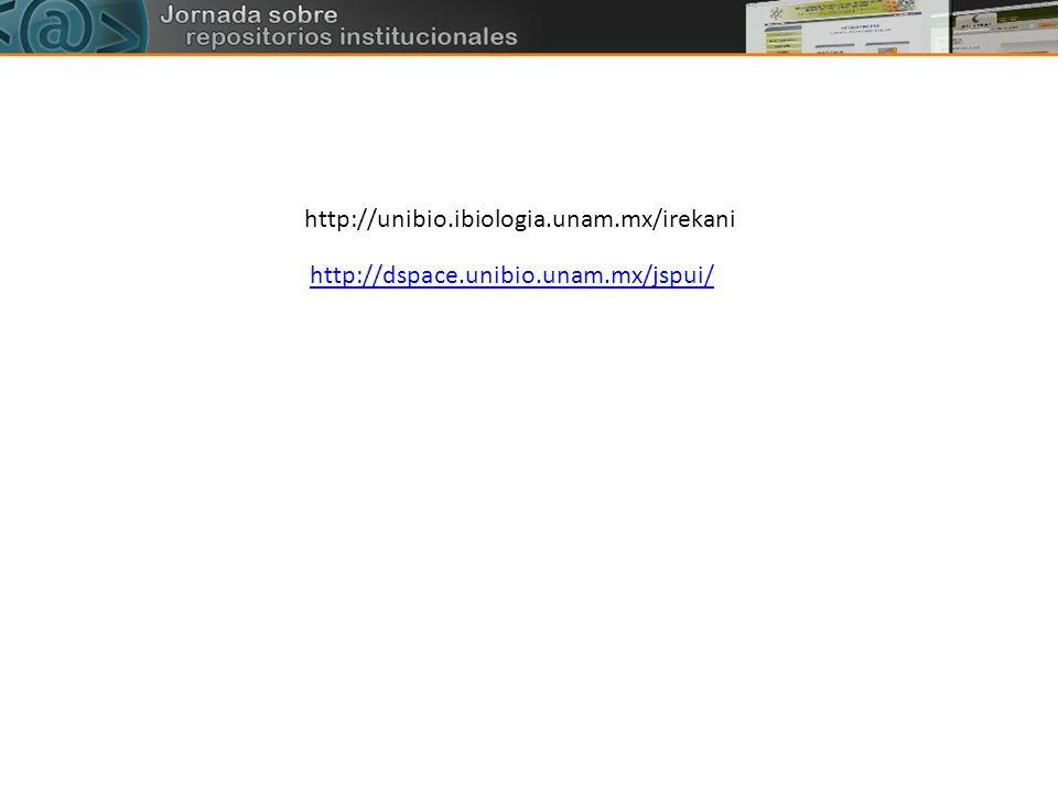 http://unibio.ibiologia.unam.mx/irekani http://dspace.unibio.unam.mx/jspui/