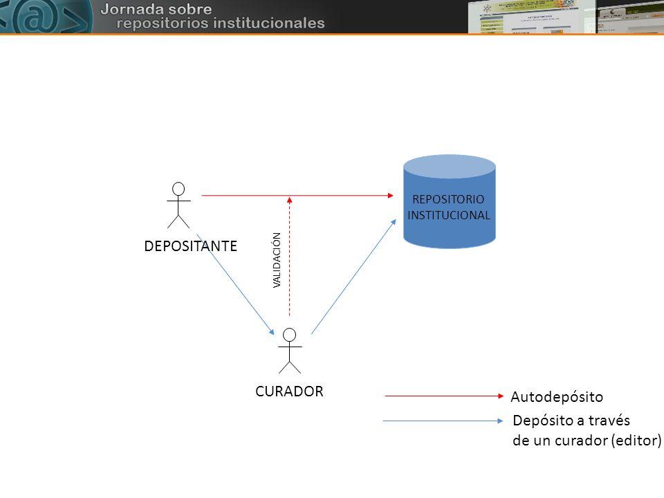 DEPOSITANTE CURADOR Autodepósito Depósito a través