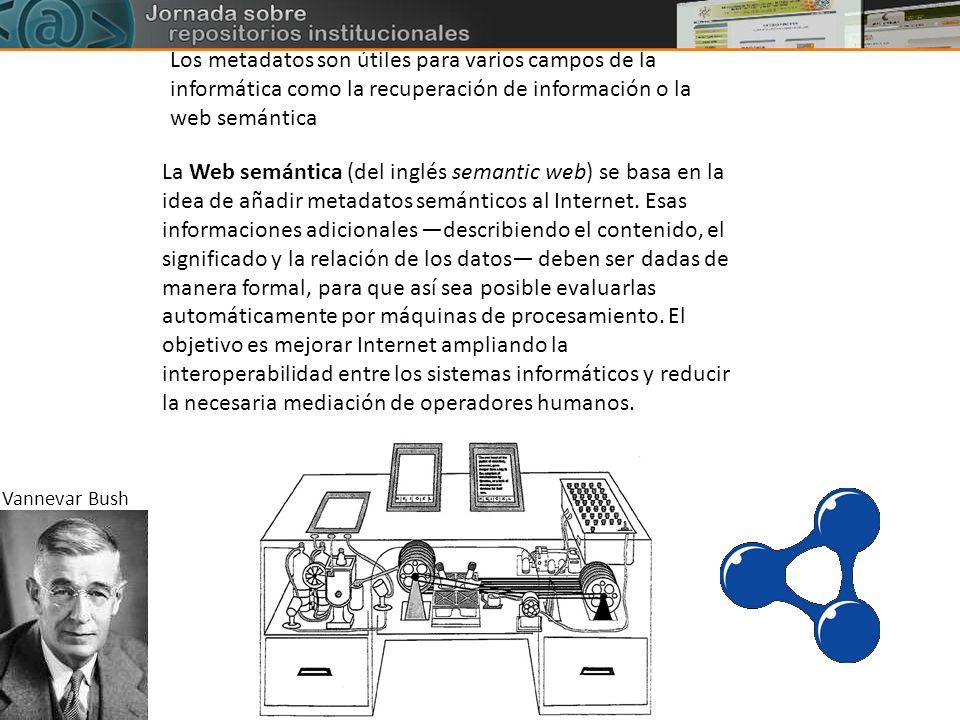 Los metadatos son útiles para varios campos de la informática como la recuperación de información o la web semántica