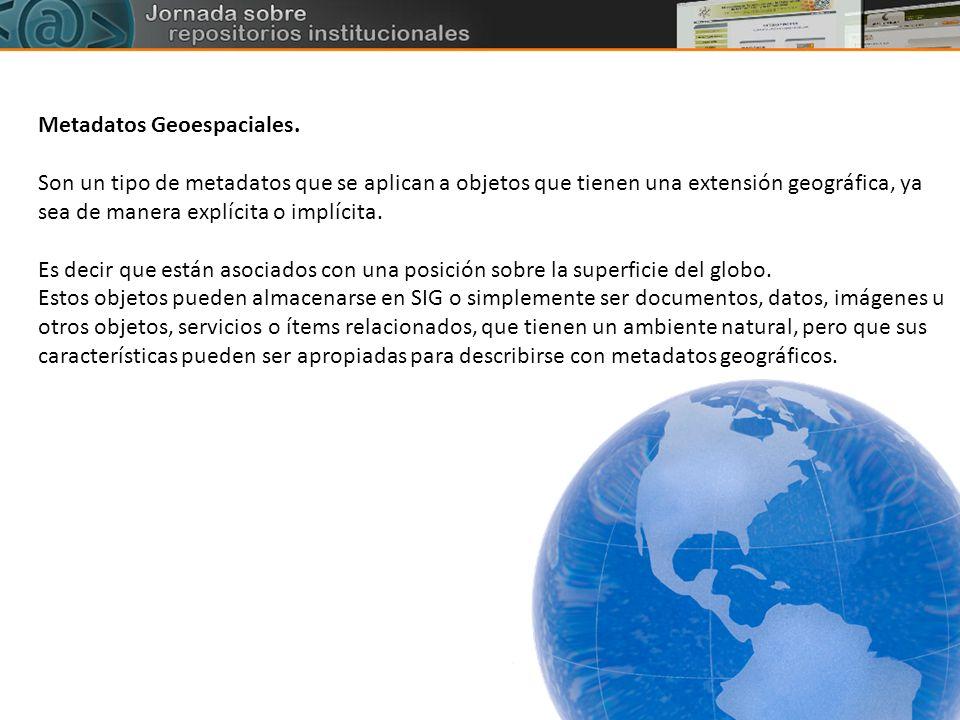 Metadatos Geoespaciales.