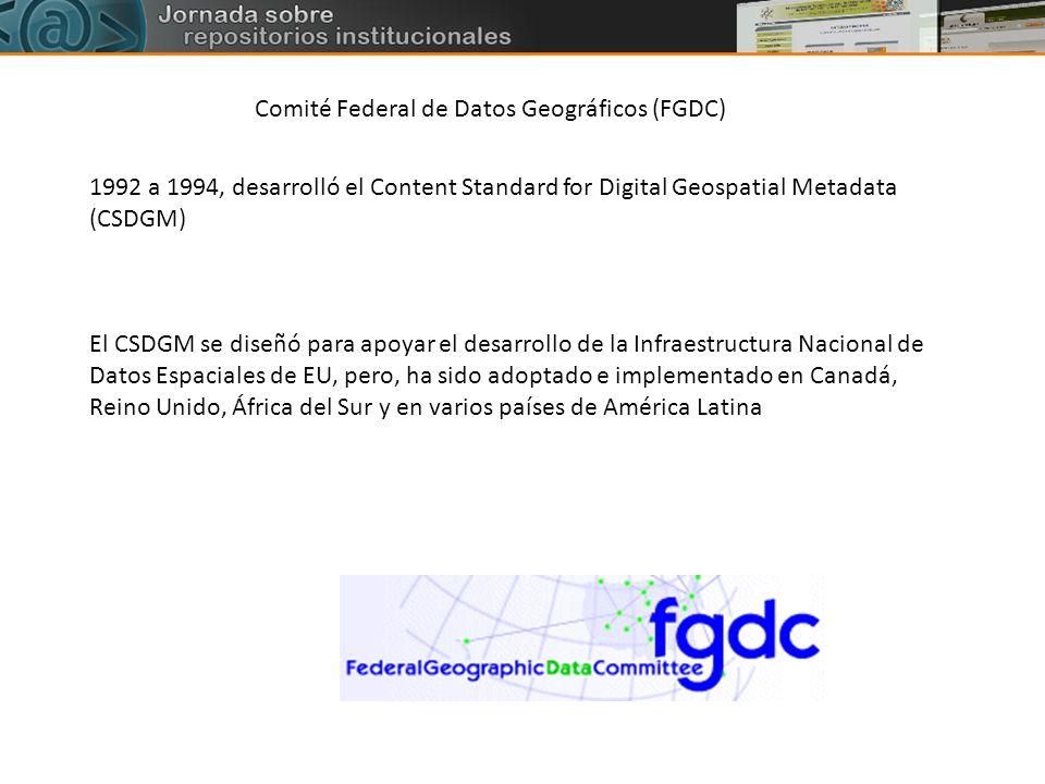 Comité Federal de Datos Geográficos (FGDC)