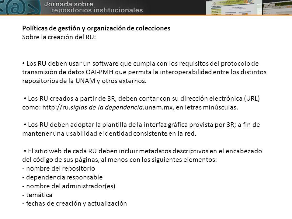 Políticas de gestión y organización de colecciones