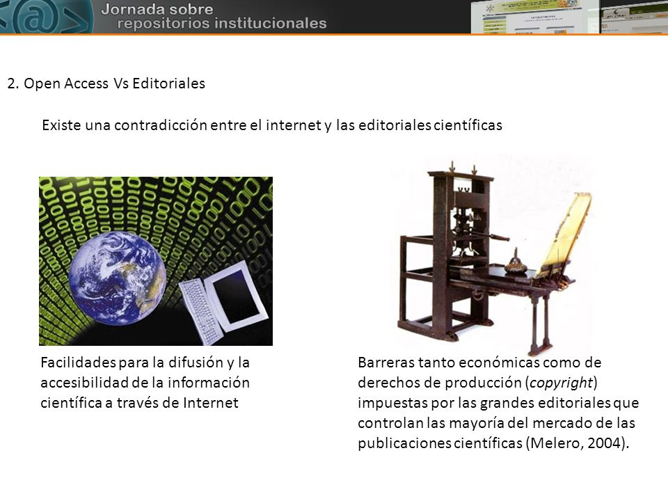 2. Open Access Vs Editoriales