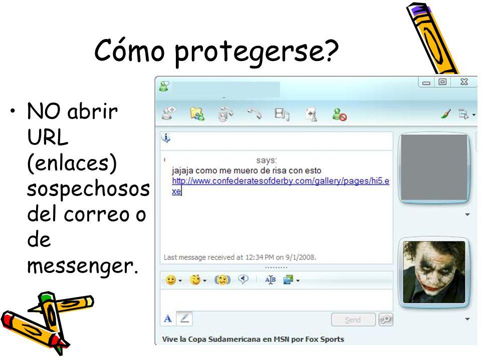 Cómo protegerse NO abrir URL (enlaces) sospechosos del correo o de messenger.