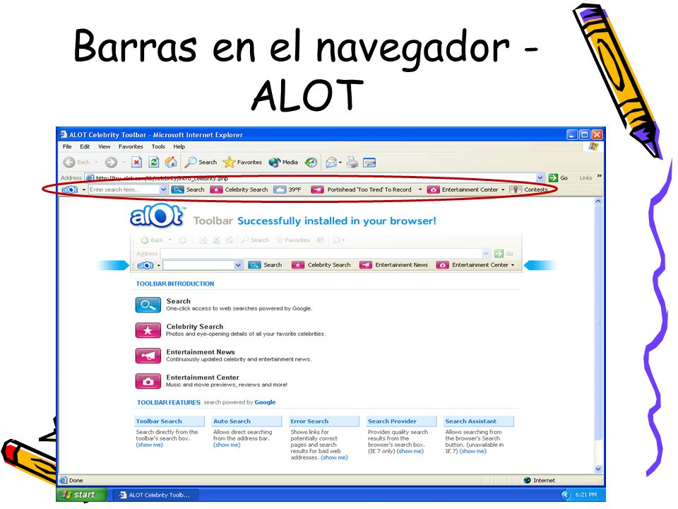 Barras en el navegador - ALOT