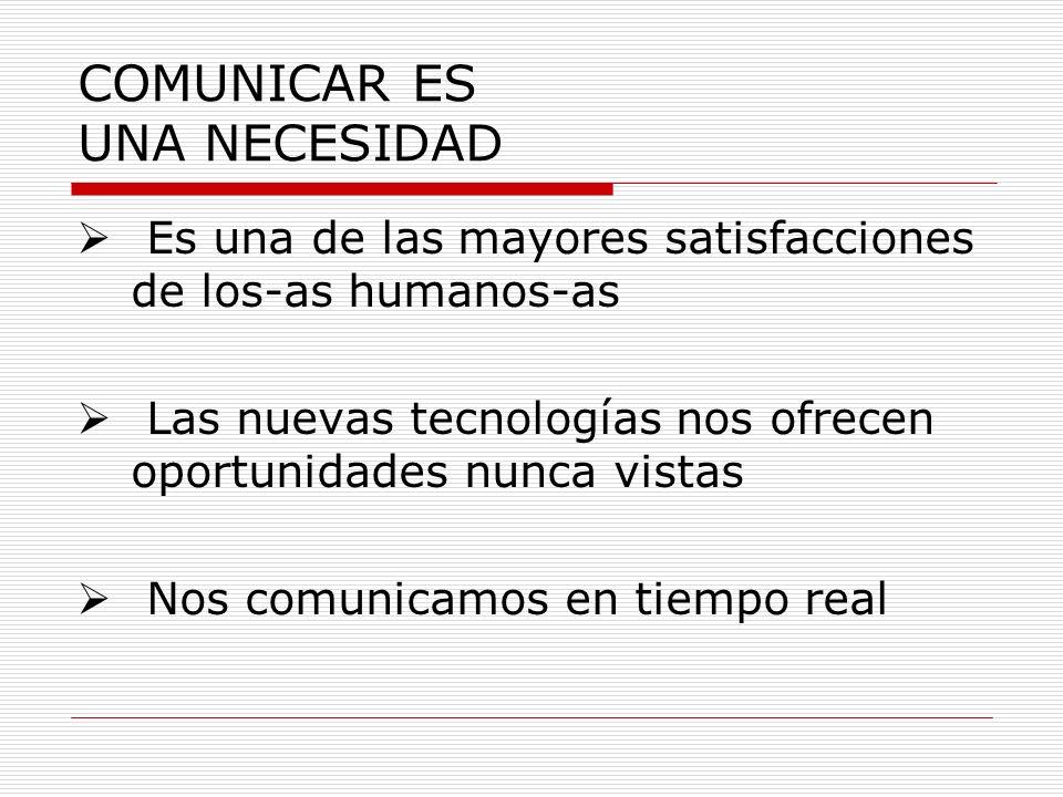 COMUNICAR ES UNA NECESIDAD
