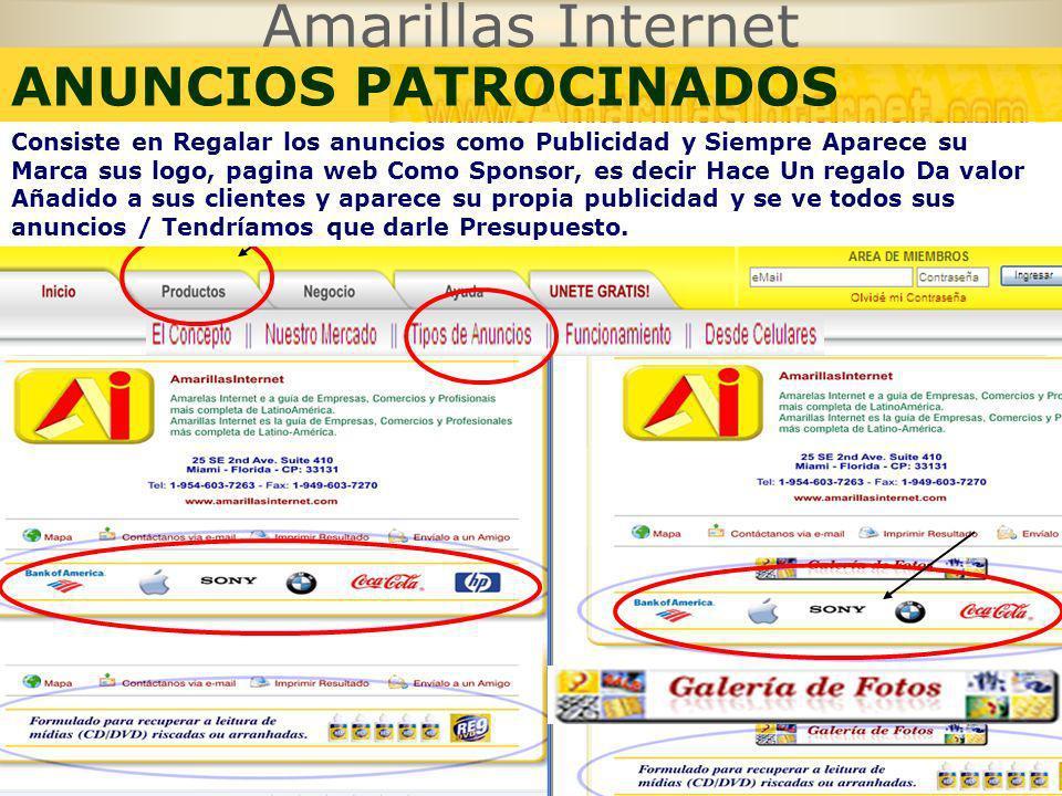 Amarillas Internet ANUNCIOS PATROCINADOS GRATIS
