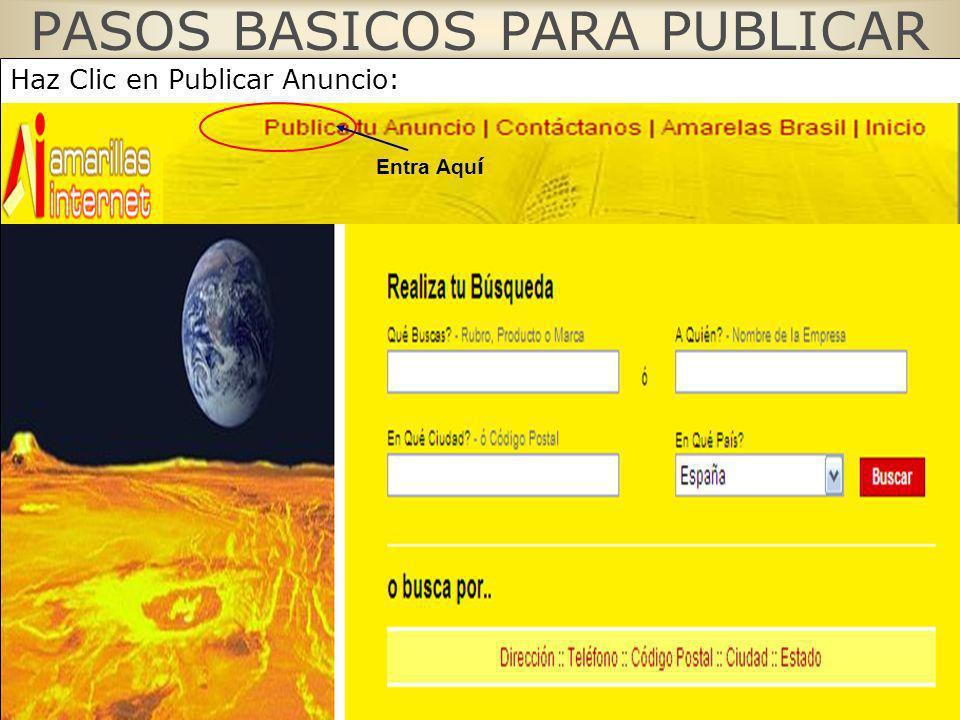 PASOS BASICOS PARA PUBLICAR