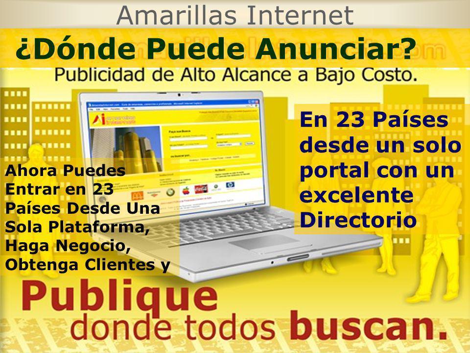 ¿Dónde Puede Anunciar Amarillas Internet