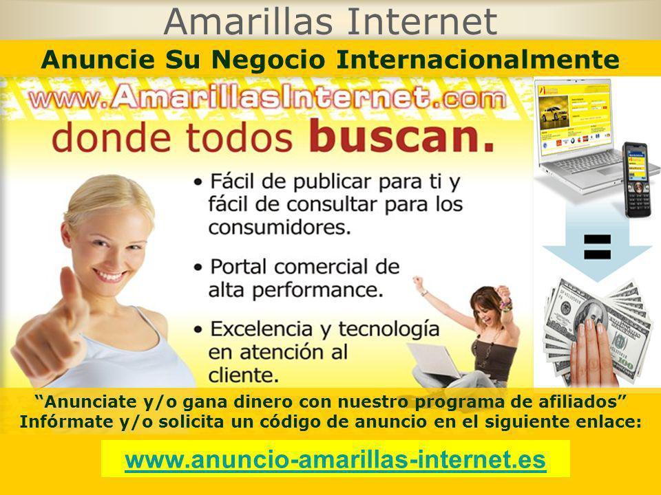 Amarillas Internet Anuncie Su Negocio Internacionalmente