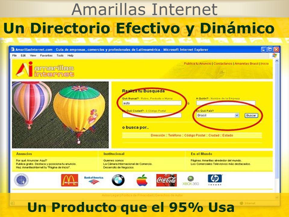 Un Producto que el 95% Usa Amarillas Internet
