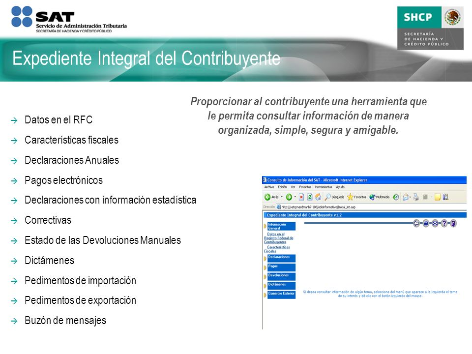 Expediente Integral del Contribuyente