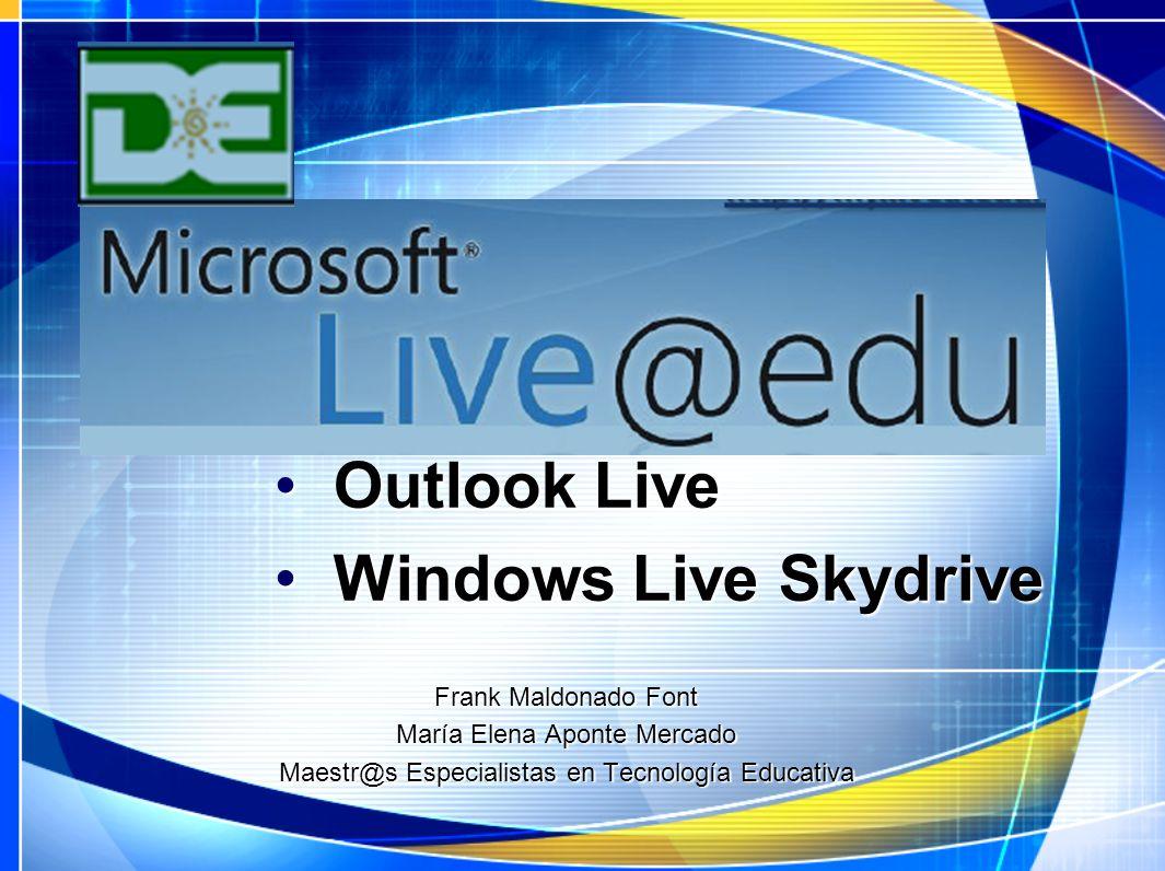Outlook Live Windows Live Skydrive Frank Maldonado Font