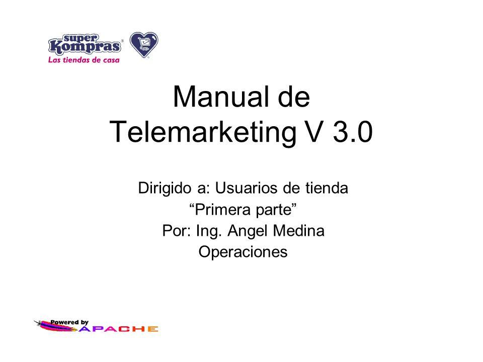 Manual de Telemarketing V 3.0