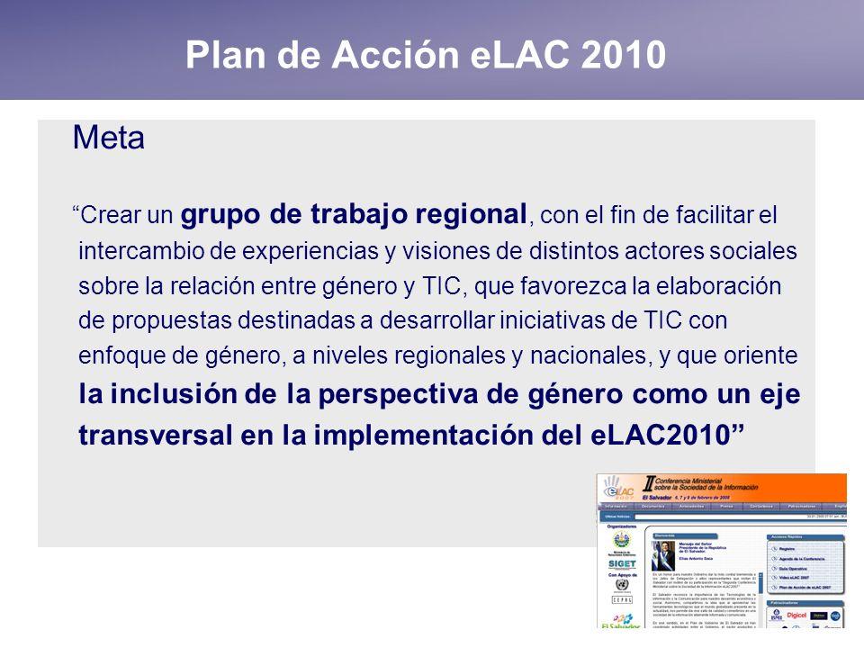 Plan de Acción eLAC 2010 Meta