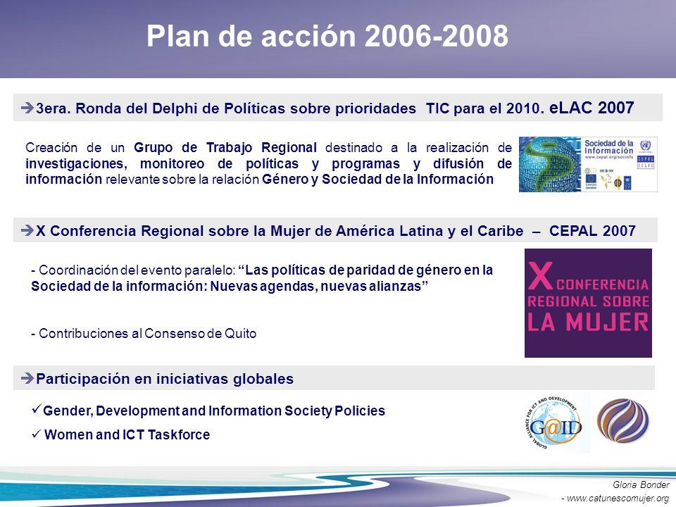 Plan de acción 2006-2008 3era. Ronda del Delphi de Políticas sobre prioridades TIC para el 2010. eLAC 2007.