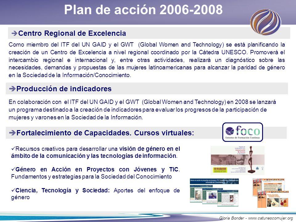 Plan de acción 2006-2008 Producción de indicadores